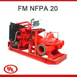 UL FM NFPA20 double horizontal Jockey Pluriétagé centrifuge d'aspiration moteur diesel de l'équipement de la pompe de lutte contre les incendies