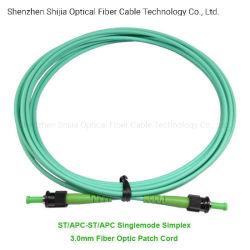 St/APC-St/APC Simplex Câble de raccordement à fibre optique duplex monomode Fibre multimode