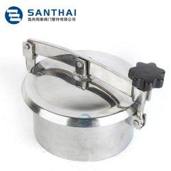 Medidas sanitarias para uso alimentario cubierta de acero inoxidable la presión del depósito de alcantarilla Manway con mirilla