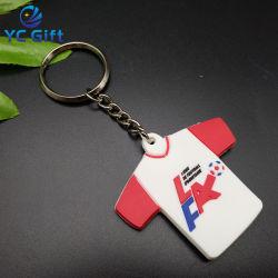 Venda Personalizada de alta qualidade Cartoon T-shirt borracha plástico Key Ring PVC maleável 3D Fancy Loja Key Finder projetar seu logotipo para Itens promocionais (KC-P17)