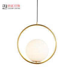 Conception simple poignée de commande de la lampe en verre dépoli pour salle de séjour (ZLA058P)