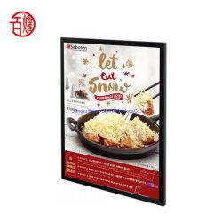 Hot Sale a conduit les cadres photo personnalisé Indoor Frameless Boîte à lumière LED de tissu de la publicité