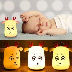Lámpara de Pat de silicona regalos creativos para niños de dibujos animados de Navidad Noche de Luz