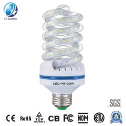 Hot Sale de haute qualité de l'enregistrement de l'énergie à LED lampe CFL en spirale 20W 1800lm Hot-Selling 85-265V au Mexique avec certificat Nom IP44