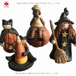 Cute Décoration de la résine de citrouille de sorcière Holiday Craft Black Cat