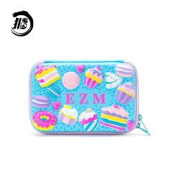 学校 3D エンボス用の大容量ペンシルバッグ 女の子のペンの箱のかわいい EVA のひな形箱 Cake