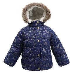 Entwerfer-Marke mit dem Faux-Pelz-Ski-Winter warm imprägniern hinunter Luftblasen-Puffer-mit Kapuze Kleidungs-Mantel-Umhüllung für Kind-Mädchen der Baby-Kinder