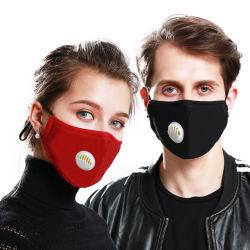 Anti-Fog Pm2.5 Activado máscaras de carbono preto de algodão respirar o Filtro da Válvula de máscara de protecção para homens e mulheres
