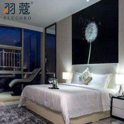 Фошань установлены текстильной отель постельное белье из 100% хлопка белого цвета лучше всего 5 звезд на заводе