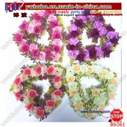Yiwu 인공 꽃 화환 로즈 사랑 심혼 화환 Flores 결혼식 크리스마스 장신구 (B6061)