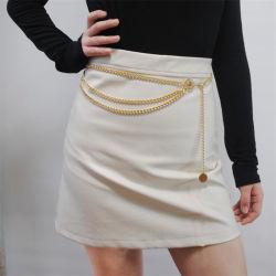 Bohemian estilo retro liga multicamada da cadeia de Cintura da cadeia do corpo das mulheres ao redor da cadeia do ventre pendente no cinto jóias do sexo feminino