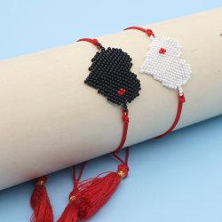 قلب ملغم براسيليت نساء ميوكي الصداقة هدية براكاليت مجوهرات دقيقة Pulseras Muger 2020 الأزياء اليدوية Tassel الحبل تقليد ثقب Jewelley الجملة