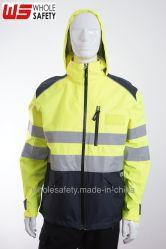 Alta Visível 3m fita refletiva Vestuário de protecção de segurança à prova de vento Jacket Casaco com HAT