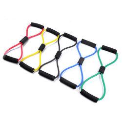 رقم 8 منشّط صبغيّ [رسستنس إكسرسس] أنابيب نطاق مجموعة, إمتداد لياقة نطاق حبل لأنّ نظام يوغا لياقة تمرين بدنيّ