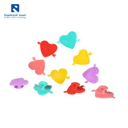 Cepillo de silicona en forma de corazón