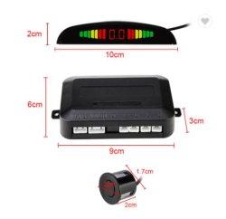 4 أجهزة استشعار شعبية شاشة LCD إضاءة خلفية شاشة حساس موقف السيارة الرجوع للخلف الرادار