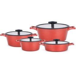 Anti-adherente de la fábrica de aluminio fundido ollas Wok personalizados Set Wok Sartén Pan sopa de establecer la olla de cocina