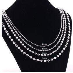 ファッションステンレススチール丸形ビーズネックレス宝石類の設計のための付属品