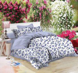 Suave y transpirable de patrón de flor de la ropa de cama Ropa de cama doble Edredón Bedsheet microfibra juego de ropa de cama
