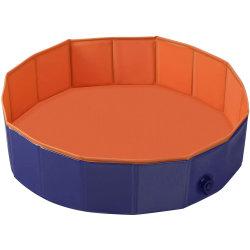 Belüftung-Haustier-Swimmingpool-bewegliche faltbare Pool-Hundekatzen, die Wanne-Badewannen-Wäsche-Wanne-Wasser-Teich-Pool-Haustierpool-u. Kiddie-Pools für Kinder im Garten baden