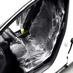 Asiento de coche universal de plástico desechable impermeable cubierta