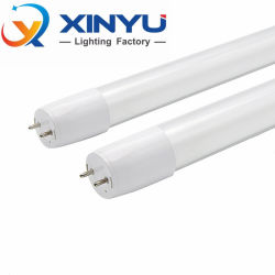 Alto brillo LED T8 T8 de la luz del tubo de vidrio 100lm/W de 0,6 m 0,9M de 1,2 m de 2M 3M 4FT 9W 15W 18W 7000K Luz del tubo de cristal LED lámpara T8