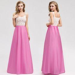 Damen schnüren sich A - Zeile rosafarbene reizende Kleider der Prinzessin-Abend