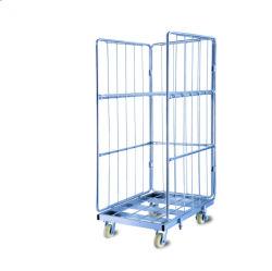 Contenitori pieganti della gabbia del rullo di immagazzinaggio del magazzino del carico di obbligazione della rete metallica