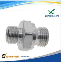 Total de alta precisão a conexão do tubo de aço inoxidável resistente à vibração do medidor de pressão do óleo com peças de usinagem CNC