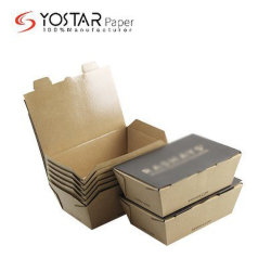 Compostable Corrugagted alimentos sólidos de cartón de papel para llevar almuerzo con el sistema de cierre