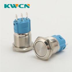 Interruttore momentaneo a pulsante LED da 12 mm 5 V, pulsante a 2 pin Interruttore a pulsante 1no 2A 36 V CC IP65 Ik 08 impermeabile