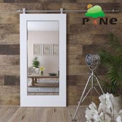 Hotel Projeto/Madeira Interior de madeira branca deslizante coradas laca de pintura à base de água do espelho EUA corta-fogo padrão celeiro HPL Porta do banheiro