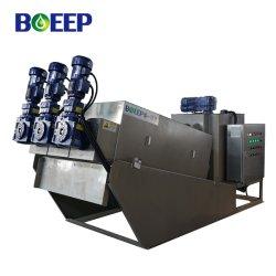 Gestión de aguas residuales industriales engrosamiento de la deshidratación de lodos de tipo tornillo máquina Filtro Prensa