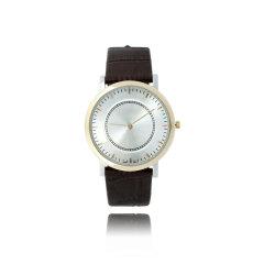 Moda Reloj Dial Simple ultrafino Rose Gold Ladies relojes de pulsera para regalo (JY-ST031)
