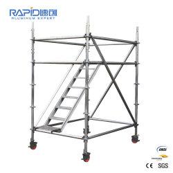 Sistema Ringlock alumínio Plank Scaffold torre móvel de alumínio