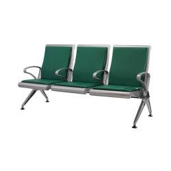 Haute qualité 2/3/4/6 en acier inoxydable passager banc public de l'aéroport de sièges d'attente chaise avec cadre en métal &PU Padding #en stock Centre de santé (HY500-K03CS)