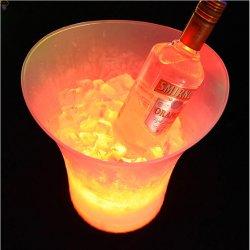 O gradiente do balde de gelo LED alterando o balde do Refrigerador de Bebidas Vinho Luminoso