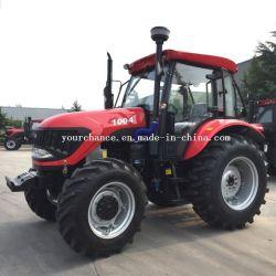 La calidad de la punta de DQ1004 4X4 de 100 CV Tractor agrícola de la rueda China grandes ruedas de tractor agrícola con certificado CE ISO para la venta