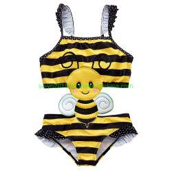 De nouveaux enfants 1PCS Bee Fille de conception de maillots de bain haut anti-UV Soft Kids Maillot de bain