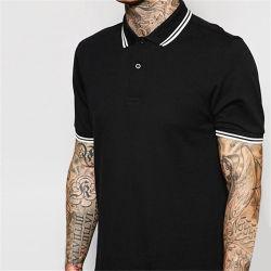 Overhemden van het Polo van de Sporten van de Kraag van de Afwijzing van de Mensen van de T-shirts van het Polo Mens Zwarte Dri van de douane de In het groot Geschikte