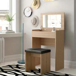 تصميم جديد ميليامين MDF غرفة نوم مرآة مرآة طاولة فساتين (HF-WF06031)