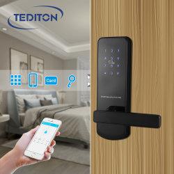 Tediton WiFi Bluetooth App Seguridad Electrónica inteligente combinación de muebles de la tarjeta de código digital de la cerradura de puerta de hardware para el Hotel Apartamento Airbnb