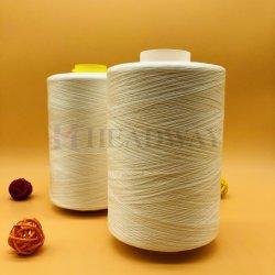 많은 많은 필라멘트를 포함하여 코어에 의하여 회전되는 털실 100%년 폴리에스테 털실 높은 강인 꿰매는 스레드 40s/2