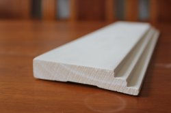 Garniture de joint de doigt apprêtée moulures en bois Flooring plinthe plinthe