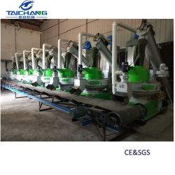 5 tonnellate per laminatoio di legno industriale della pallina di ora progettano la pianta d'appallottolamento completa di pelletizzazione della biomassa del sistema