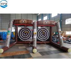 Almofada insuflável de Carnaval Ax Jogue o jogo do DART para venda, almofada insuflável Ax atirando a dupla Lane Sport Jogo os brinquedos dos eixos