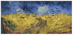 Des artistes célèbres Paintingwheatfield d'huile avec les corneilles, Vincent Van Gogh