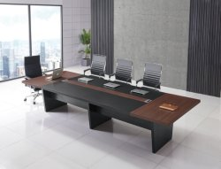 A Norma americana Carb P2 12 Pés sala de reuniões multi Pessoa grande de madeira mesa de conferência