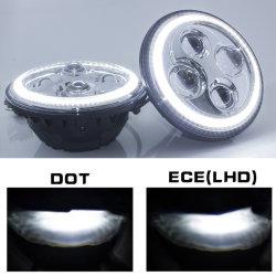 fari approvati di SAE LED del PUNTINO 7inch con il guidacarta di giorno di bianco degli indicatori luminosi correnti del fascio DRL di Hi/Low