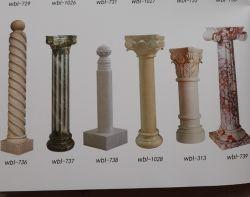 단단한 실린더 유럽 기복 대리석 기둥